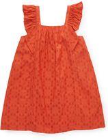 Jigsaw Girls Spot Jacquard Frill Dress