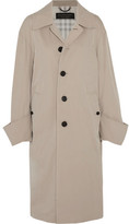 Burberry Oversized Cotton-twill Coat - Beige