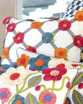 Mackenzie Childs MacKenzie-Childs Tic-Tac-Posie Square Pillow