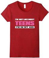 Men's I'm Not Like Most Teens I'm in My 40s T-shirt 2XL