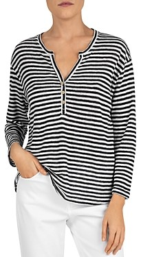 Gerard Darel Jake Striped Linen Tee