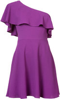 Black Halo one shoulder ruffle dress - women - Polyamide/Spandex/Elastane - 4