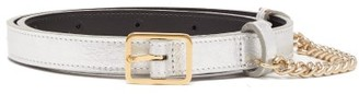 Hillier Bartley Chain-trimmed Metallic-leather Belt - Womens - Silver