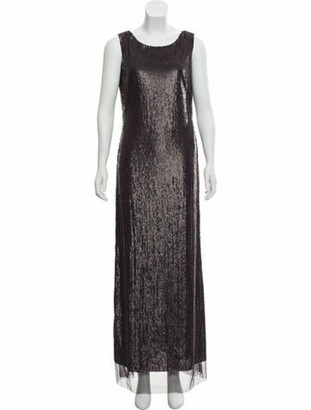 Tom Ford Sequined Sleeveless Gown w/ Tags Plum