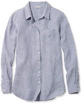 L.L. Bean Premium Washable Linen Shirt, Tunic Microstripe