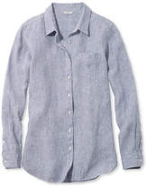 L.L. Bean Premium Washable Linen Shirt, Tunic Stripe