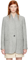 Isabel Marant Grey Herringbone Elis Coat