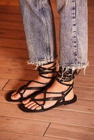 Free People Fp Collection Positano Wrap Sandals by FP Collection at Free People, Black, EU 36