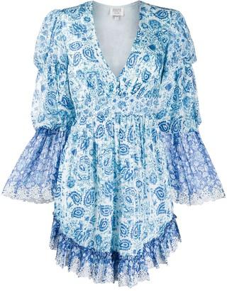 HEMANT AND NANDITA paisley print dress