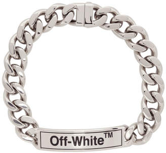 Off-White Off White Silver Sweetheart Choker Necklace