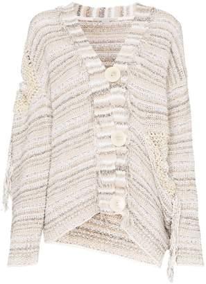 Stella McCartney tie-detail cotton-blend knit cardigan