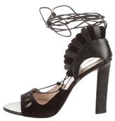 Paula Cademartori Lotus Lace-Up Sandals w/ Tags