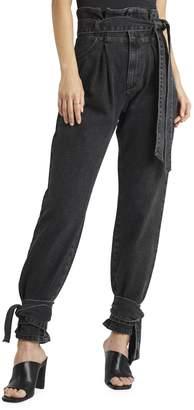 NA-KD Na Kd Belted Paperbag Jeans