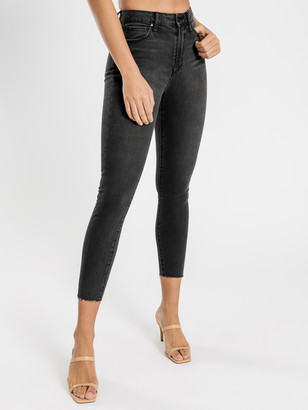 Articles of Society High Lisa Skinny Ankle Hug Jeans in Black Chester