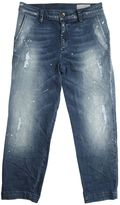Washed & Painted Stretch Denim Jeans