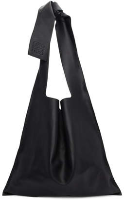 Loewe Black Leather Bow Tote