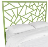 David Francis Furniture Tiffany Open-Frame Headboard Color: Celery Green, Size: King