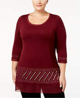 Belldini Plus Size Studded Tunic