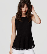 LOFT Lace Peplum Top