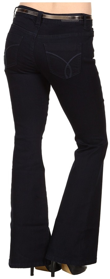 Calvin Klein Jeans Petite Skinny Flare in Saturated Rinse (Saturated Rinse) - Apparel