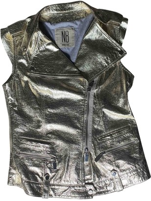 N8 Gold Leather Leather Jacket for Women