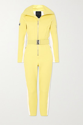 Cordova Signature In The Boot Belted Striped Ski Suit - Yellow