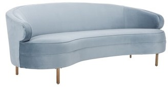 "Everly Skye Velvet 89.4"" Recessed Arm Sofa Bed Quinn Fabric: Light Pink"