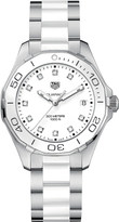 Tag Heuer WAY131D.BA0914 aquaracer stainless steel ceramic and diamond watch