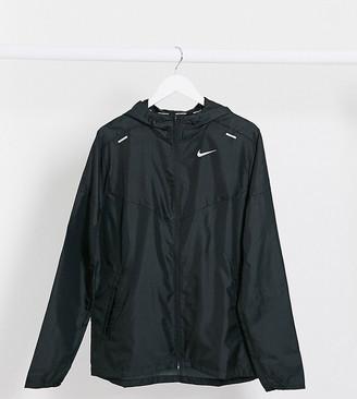 Nike Running Tall windbreaker jacket in black