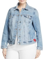 Lucky Brand Plus Embroidered Denim Jacket