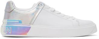 Balmain White Snake B-Court Sneakers