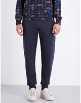 Ps By Paul Smith Logo Embroidered Cotton-jersey Jogging Bottoms
