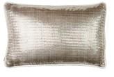 Herringbone Silk Lumbar Pillow Sivaana