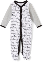 Baby Starters White & Black 'Bless This Baby' Footie - Infant