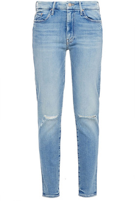 Mother The High Waisted Looker Distressed High-rise Skinny Jeans