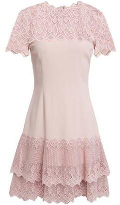 Jonathan Simkhai Tiered Guipure Lace-paneled Crepe Mini Dress