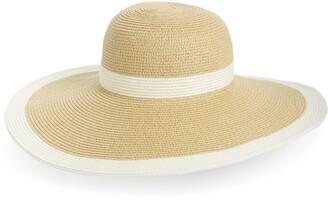 San Diego Hat Sand Diego Hat Stripe Floppy Straw Hat