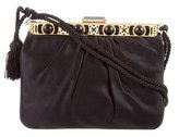 Judith Leiber Pleated Satin Frame Evening Bag