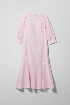 Weekday Vanessa Sheer Dress - Pink