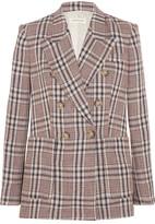 Etoile Isabel Marant Janey Checked Linen Blazer - Beige