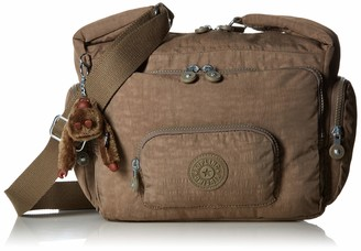 Kipling Erica Soft Earthy Beige Tonal Crossbody Bag