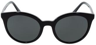 Prada Black Acetate Cat Eye Sunglasses