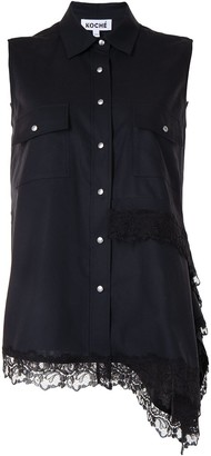 Koché Asymmetrical Sleeveless Blouse