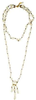Chanel Faux Pearl Double Strand Necklace