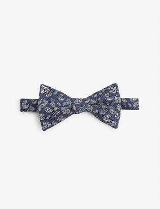 Eton Paisley silk bow tie