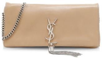 Saint Laurent Kate Tassel Leather Baguette