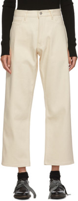 Studio Nicholson Off-White Ruthe High-Waisted Jeans