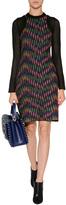 M Missoni Cotton Blend Long Sleeve Multicolor Patterned Knit Dress