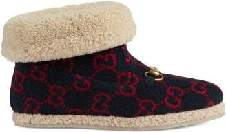 Gucci Women's GG wool ankle boot