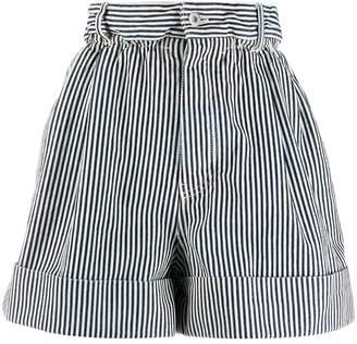 Miu Miu denim striped shorts